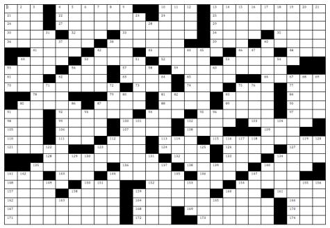 B&W magazine crossword corrections