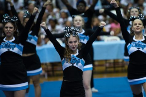 Cheerleading for a score and looking to soar