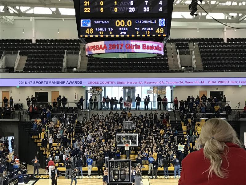 The+Vikes+came+up+one+game+short+of+a+repeat+state+championship%2C+falling+to+Catonsville+49%E2%80%9346.+Photo+by+Ezra+Pine.