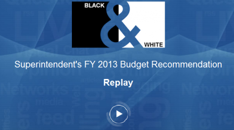 Live blog: Superintendent's FY 2013 budget recommendation