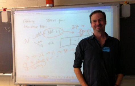 Mathematician speaks to students about thinking outside the box