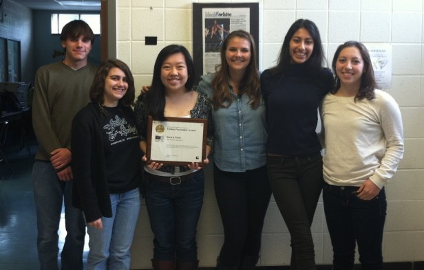 The Black & White online won an Online Pacemaker from the National Scholastic Press Association, as announced last week. Over 150 entriesPhoto by Carolyn Freeman.