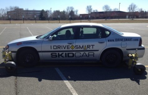 I Drive Smart offers a skid car. Photo by Abigail Pine.