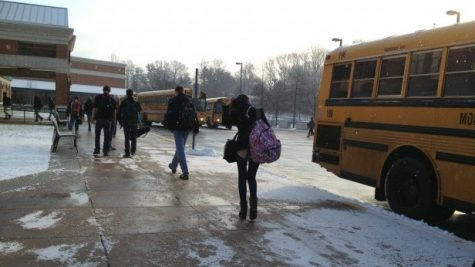 Students slept in this morning after MCPS announced a two hour delay due to the winter's first legitimate snowfall.