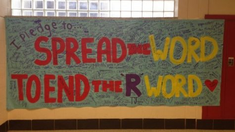 Students signed the petition to end use of the word