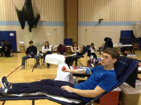 Cole Hinga and Heaton Talcott participated in the annual blood drive hosted by INOVA Health and the leadership class.