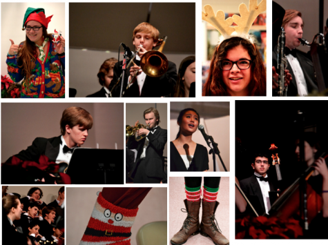 Several students donned Christmas-inspired gear and performed in the holiday assembly today, before starting winter break. School will resume January 2.