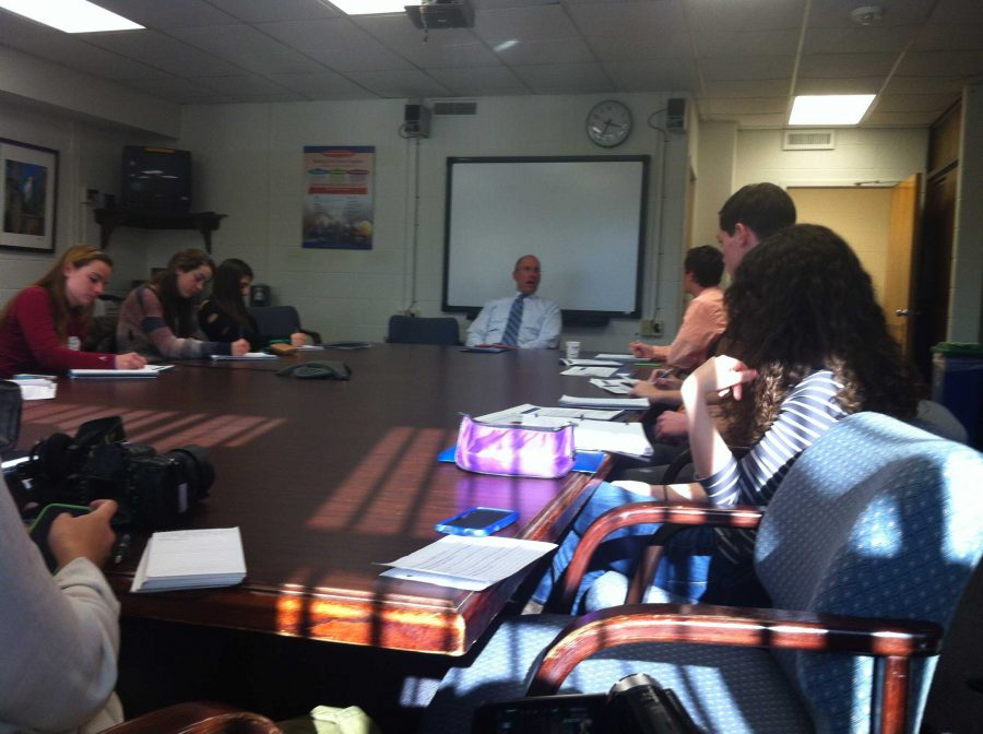 Superintendant Joshua Starr discussed student achievement, cybercivility and new standardized testing at his roundtable discussion SdlFJD. Photo by Scott Singer.