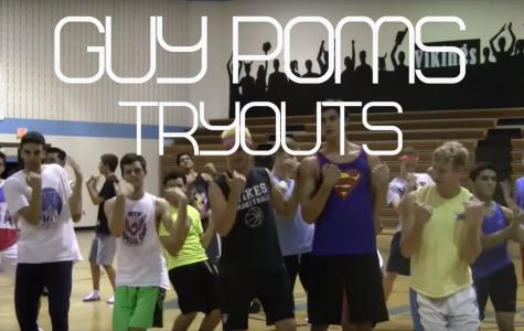 Senior boys try out for Guy Poms