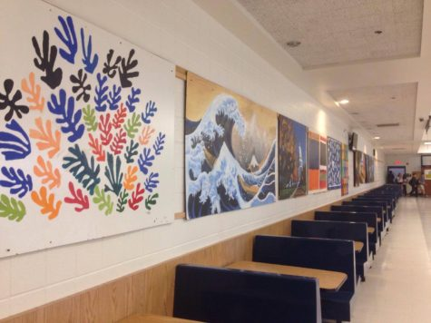 In with the new: showcasing current artwork in the cafeteria