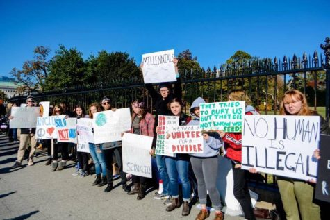 Students gather outside White House to support universal rights