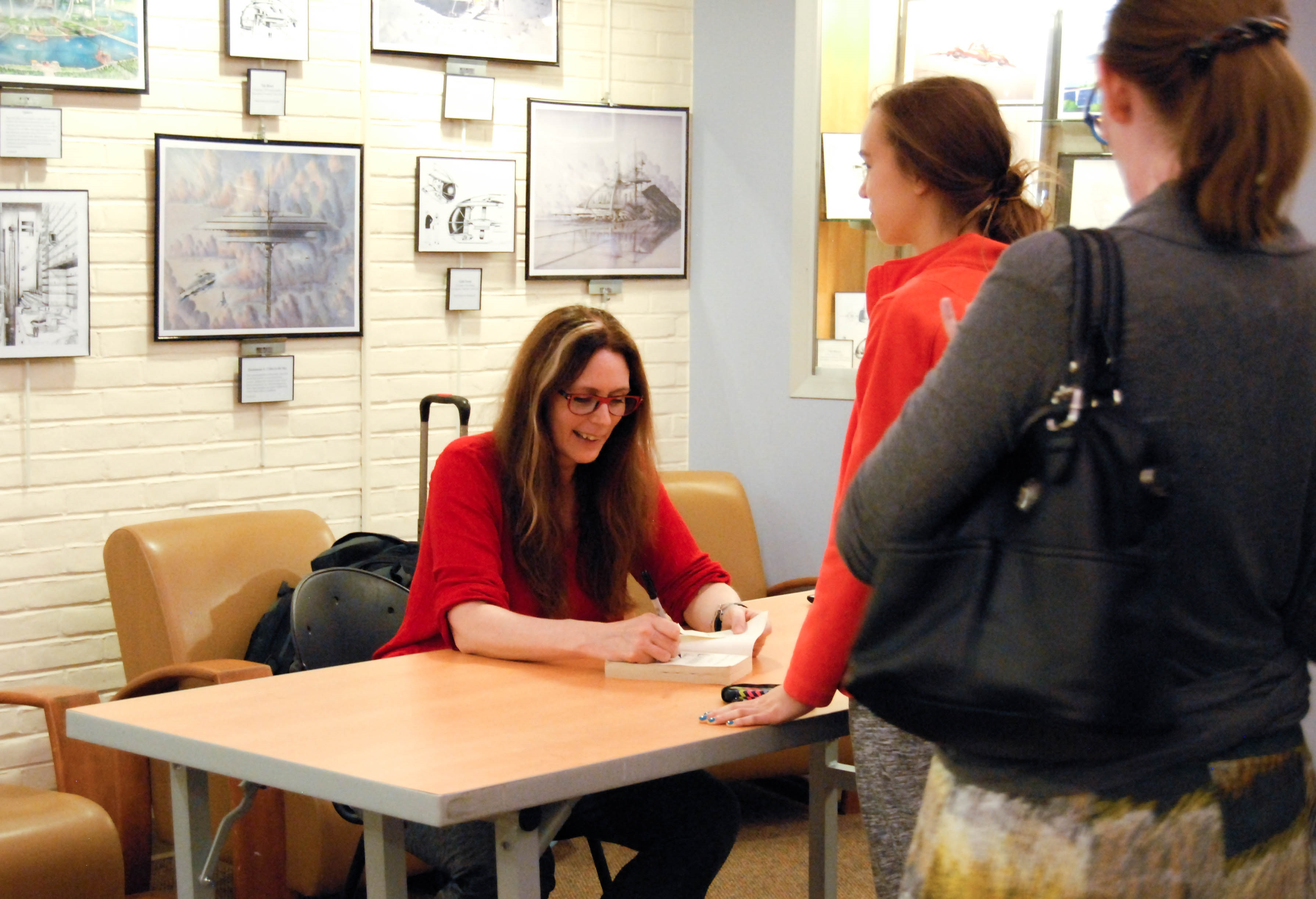 Author Laurie Halse Anderson visits Bethesda library Oct. 17 to discuss and promote her new book, Ashes, the third and final segment of her historical fiction Seeds of America trilogy. Photo by Ashley Jiang.