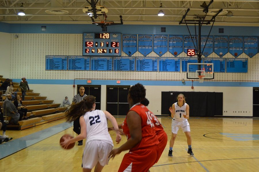 Girls basketball (1-0) continues a strong start to their season breezing by the Blair Blazers with strong scoring throughout the game.