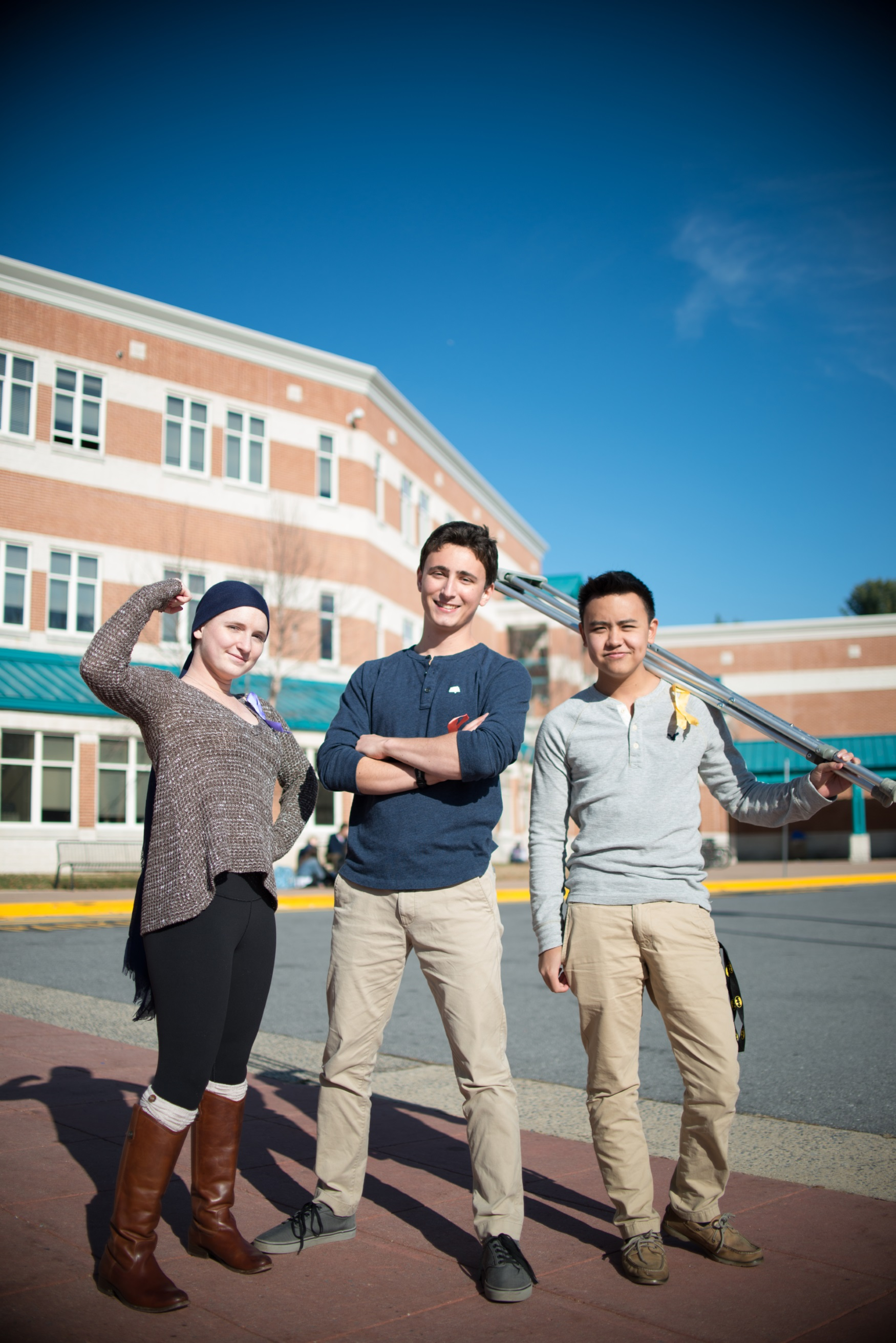 The students fighting caner are Whitman's real-life superheroes. Photo by Tomas Castro.