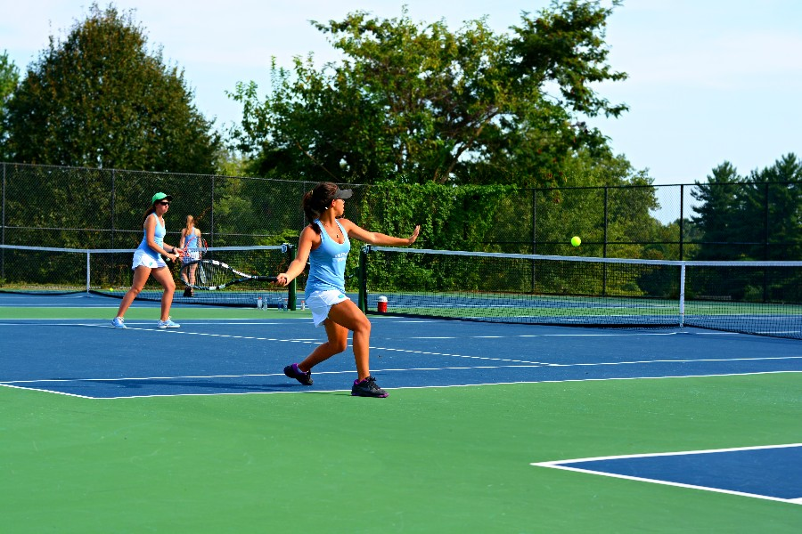 To align girls tennis season with other counties and the state tournament, MCPS moved the season to the spring. Photo by Matei Fawzy.