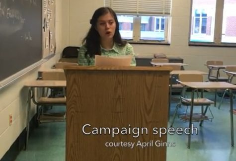 Students experience political process through AP Lang project