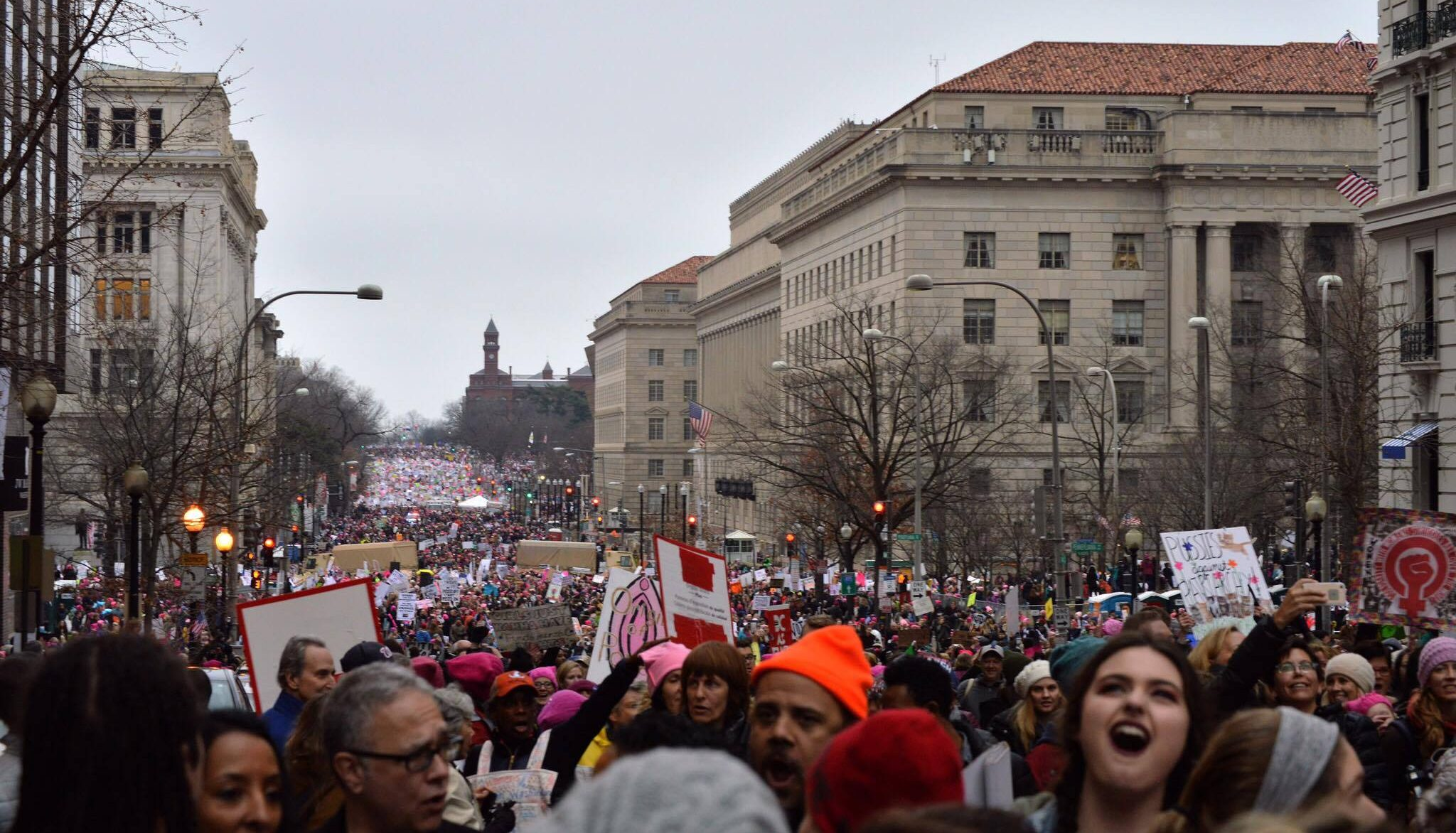 Thousands of protestors gathered in Washington D.C. on Jan. 21 to attend the Women's March on Washington, uniting for women's rights. Photo by Annabelle Gordon.