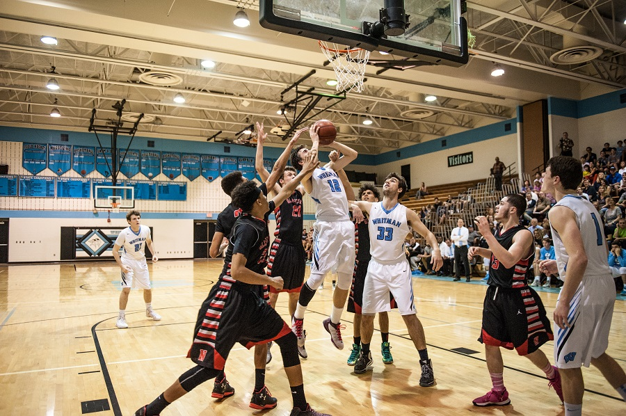 Guard Joey Squeri shoots for two of his 20 points against Northwood in the 69-40 win in the Vikes first game of the playoffs.