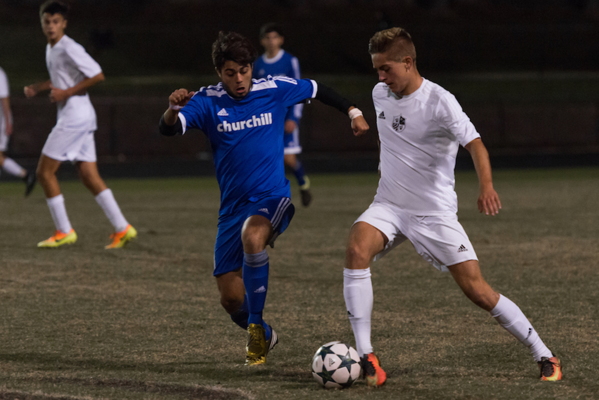 Senior forward Andreas Djurhuus earned a spot on the boys All-Met first team. Photo by Jefferson Luo.
