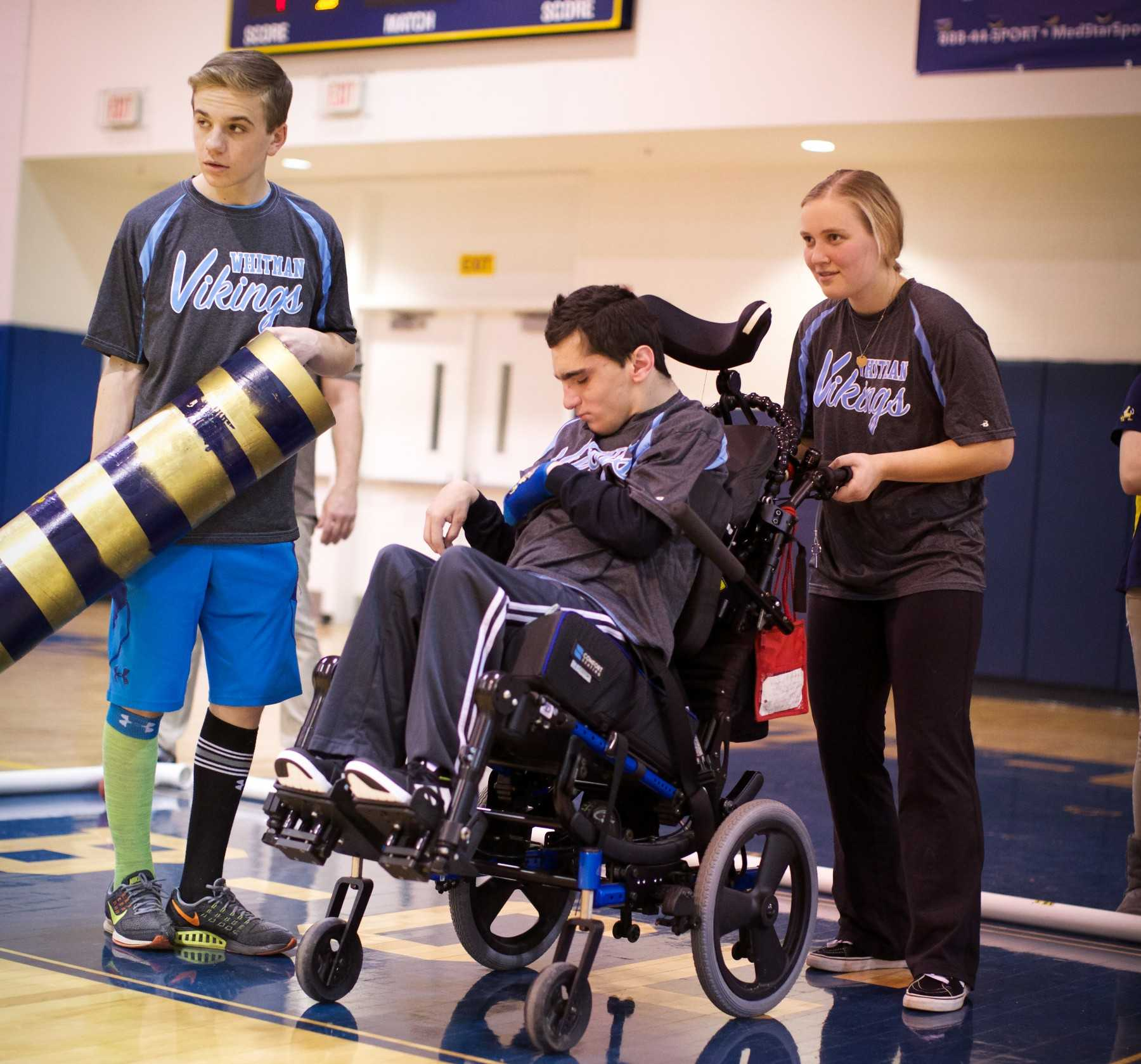 The Whitman Bocce program provides athletic experience for students with disabilities. Photo by Sophia Knappertz.
