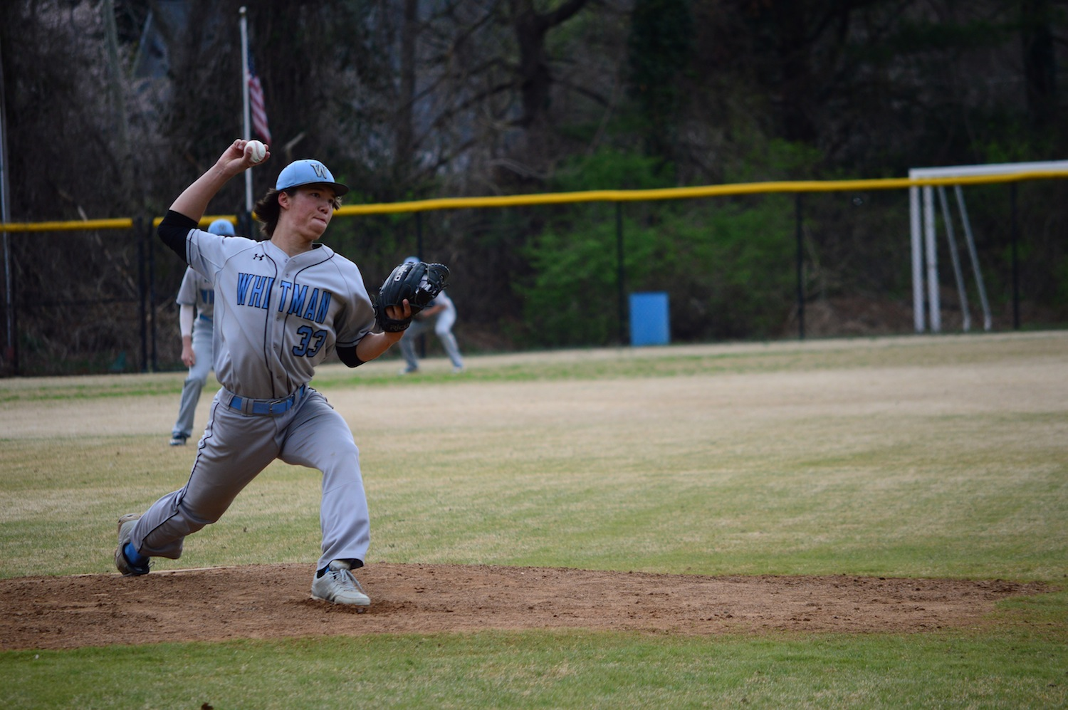 Pitcher Nathan Haddon threw five shutout innings against RM on Wednesday. Photo by Annabelle Gordon.