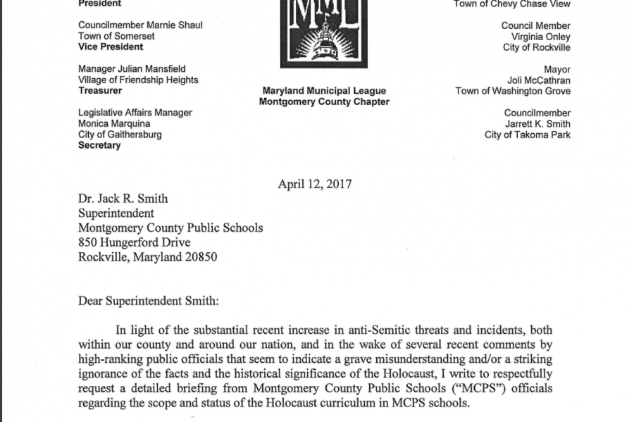 First+page+of+Ryan+Spiegel%27s+letter+to+Superintendent+Jack+Smith.+Photo+by+Lily+Jacobson.