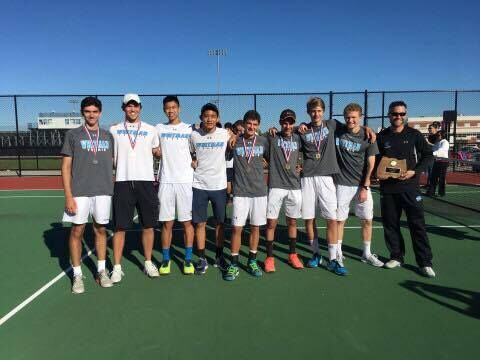 Boys tennis ties for first in county championships