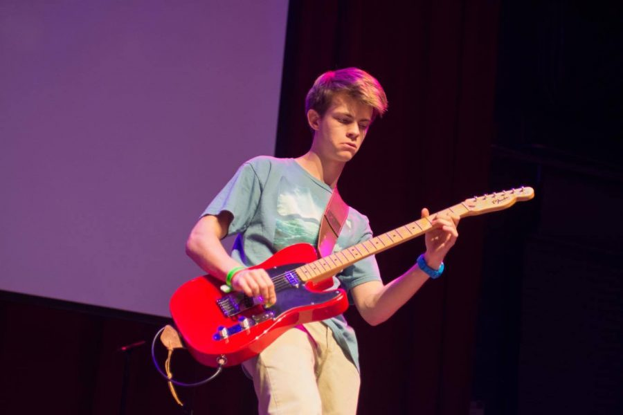 Sophomore+Matei+Fawzy+and+his+band%2C+The+f35%E2%80%99s%2C+perform+at+Montgomery+County%E2%80%99s+fourth+annual+Moco%E2%80%99s+Got+Talent+competition.+The+group+was+one+of+13+acts+to+perform+in+the+finale+at+The+Fillmore+Silver+Spring+May+21.+Photo+by+Evan+Beckley.+