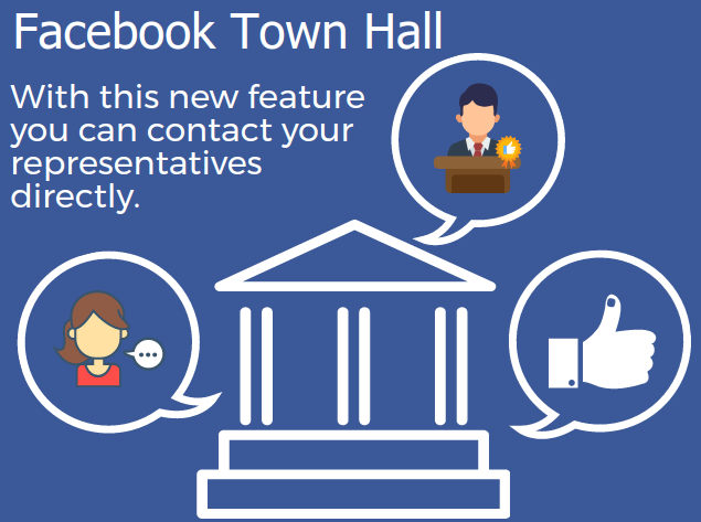 """Facebook releases """"Town Hall"""" feature, allowing users to contact representatives"""