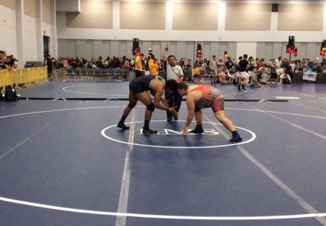 Junior competes at National Duals for wrestling