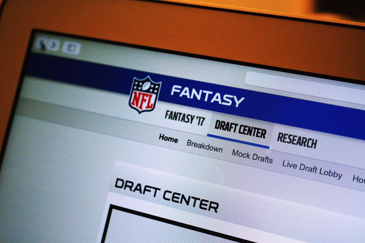 NFL Fantasy Football is one of the many organizations that hosts leagues for competition. The draft center is a major aspect of the game where teams select their players, deciding who should represent them in the season. Photo by Olivia Matthews.