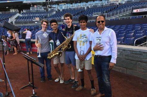 Seniors jazz up Star-Spangled Banner for Nats game