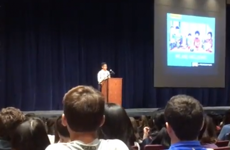Motivational speaker and freshman lead anti-bullying assembly