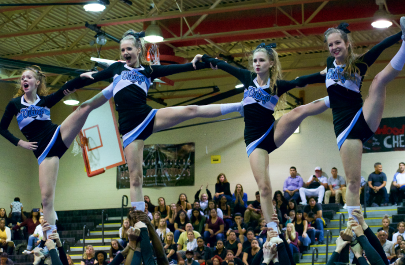 Cheer team places fifth in county championship