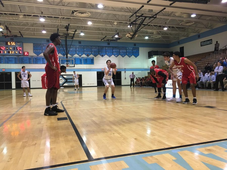 Vikes fall 54‒68 in close game to St. Stephen's & St. Agnes Saints