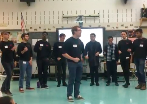 The Yale Whiffenpoofs a capella group visits Whitman, performs for students