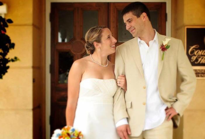 Psychology+teacher+Sheryl+Freedman+and+counselor+William+Kapner+at+their+wedding+in+2010.+The+two+got+married+at+Hilton+Head+in+South+Carolina%2C+with+a+number+of+other+teachers+attending+their+wedding.+Photo+courtesy+Sheryl+Freedman.