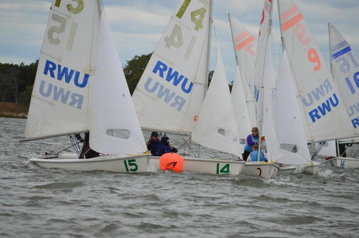 Members of the DC Sail club sail on the Anacostia River. Whitman's sailing team, which sails with DC Sail, had to change practice locations from the Potomac River to the Anacostia. Photo courtesy Sophia Kotschoubey.