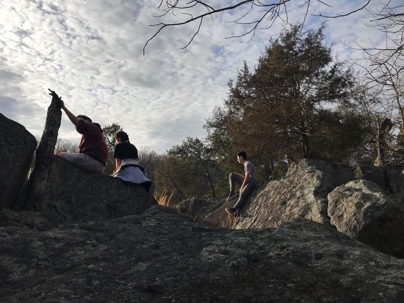 Hiking Viking members trek on the Billy Goat Trail.  Members hike together once a month. Photo courtesy Rowan Mohan.