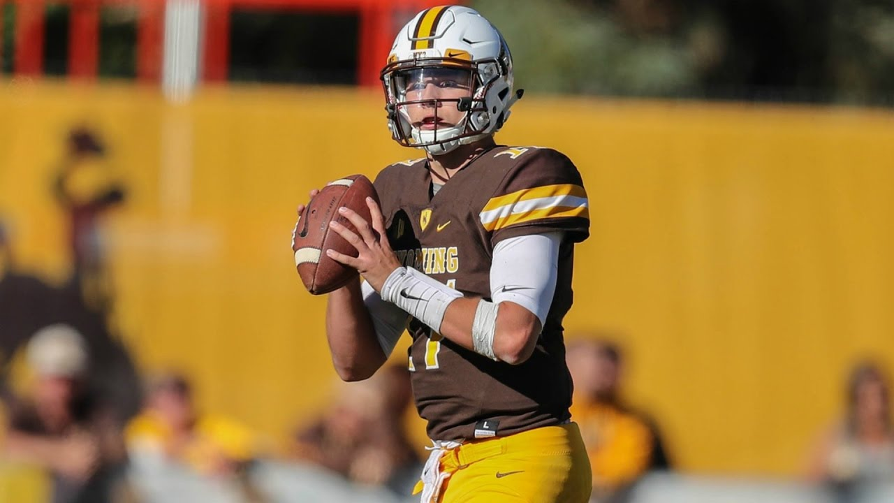 Wyoming QB Josh Allen is a projected first round pick. Photo courtesy Wikimedia Commons.