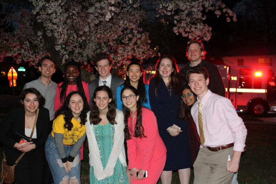 Speechies performed their speeches and original pieces April in the speech team showcase, SpeechEasy. This is the second time the event was held. Photo by Rebecca Hirsh.