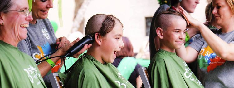 Several+kids+shave+their+heads+March+15+to+fundraise+for+the+St.+Baldrick%27s+foundation+for+cancer+research.+Junior+Lucy+Filyaw+plans+to+do+the+same+April+13.+Photo+courtesy+Lucy+Filyaw.