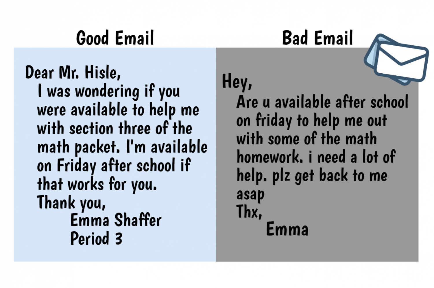 how to write an email to your teacher  u2013 the black and white