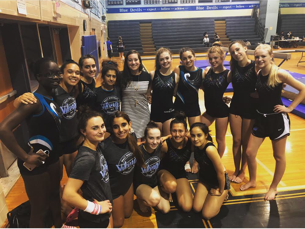 Gymnastics athletes perform in events like beam, bars, floor and vault. The team placed third at the County Championships for the second year in a row. Photo courtesy Kristi McAleese.