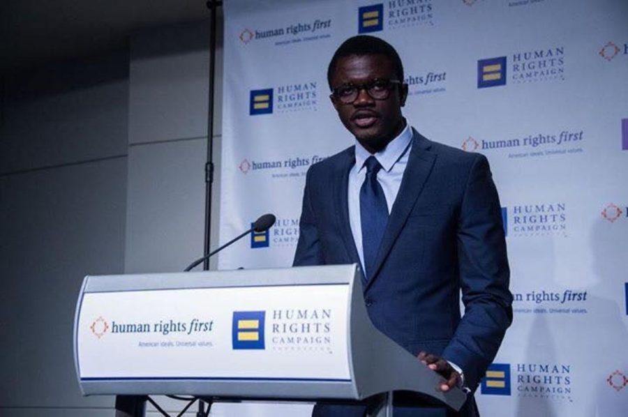 Jammeh+speaks+at+the+D.C.+Newseum+at+the+invitation+of+the+Human+Rights+Campaign+during+an+award+ceremony+and+reception+in+December+2015.+He+has+spoken+at+multiple+venues+since+he+was+forced+to+seek+asylum+in+the+U.S.+and+rebuild+his+life+for+advocating+for+gay+rights%2C+out+of+line+with+the+governmental+views+of+his+home+country%2C+The+Gambia.