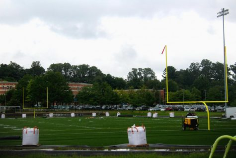 Turf field nears final stages of construction