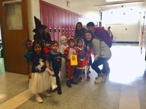 Photo of the day: Child development class trick-or-treats around school