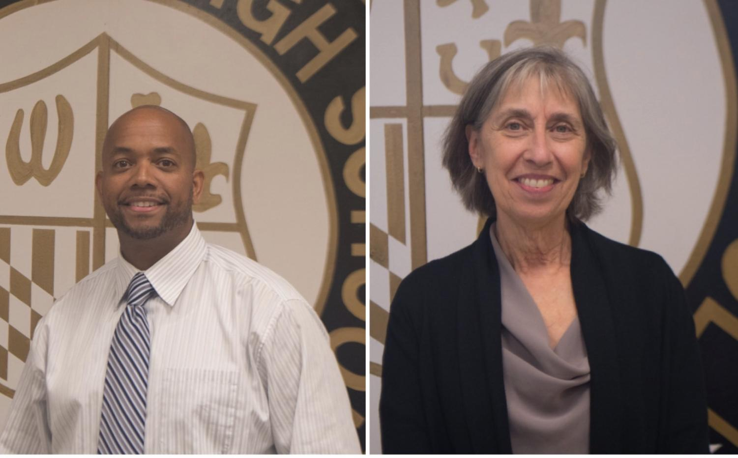 Assistant principal Phillip Yarborough and Michelle Lipson joined Rainer Kulenkampff and Kristen Cody this year. Both Began their education careers 20 years ago. Lipton taught math at Rosa Parks High School and Yarborough taught English at a North Carolina high school. Photos by Katherine Luo.