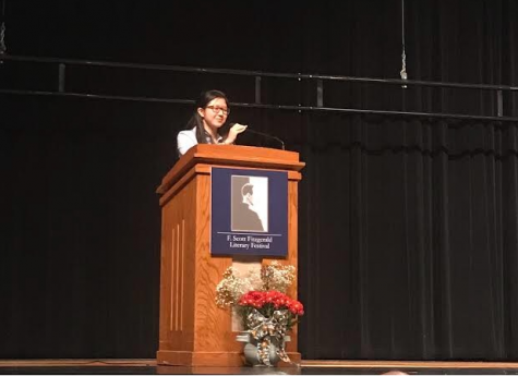 Senior Tina Xia wins award at F. Scott Fitzgerald Literary Festival