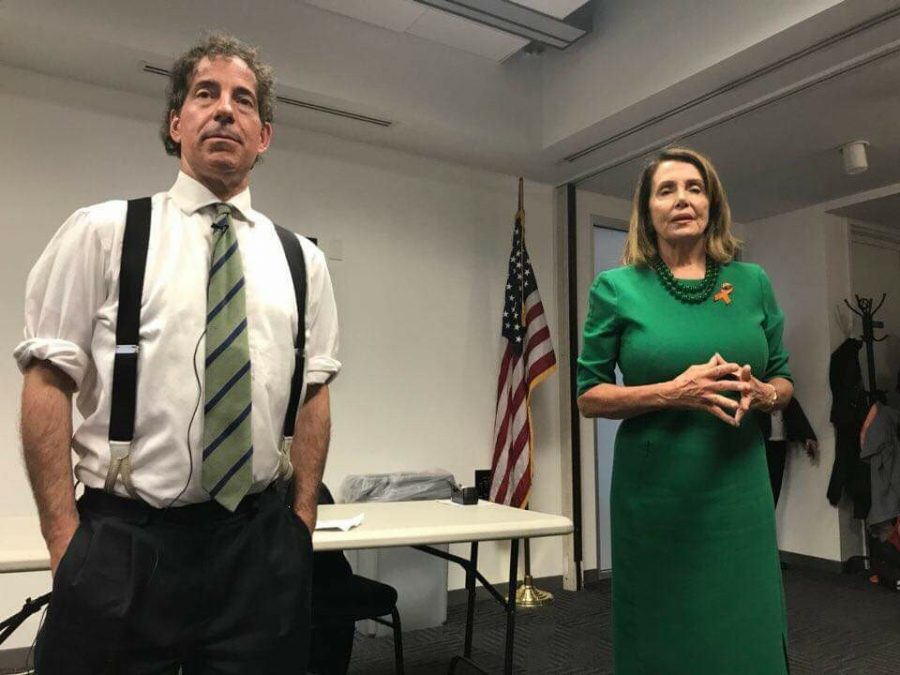 Congressman+Raskin+and+House+Minority+Leader+Nancy+Pelosi+speak+to+students+at+Raskin%27s+summer+program+Democracy+Summer.+Raskin+brings+in+guest+speakers+multiple+times+a+week+to+inspire+the+students+and+give+them+insight+from+different+leaders+and+politicians.